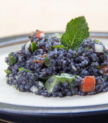Tabule de quinoa com jenipapo verde