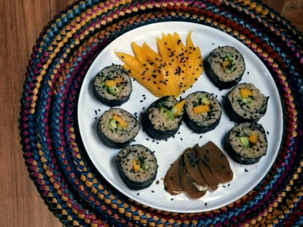 Sushi de Manga, Abacate e Pepino
